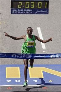 Geoffrey Mutai Boston 2011